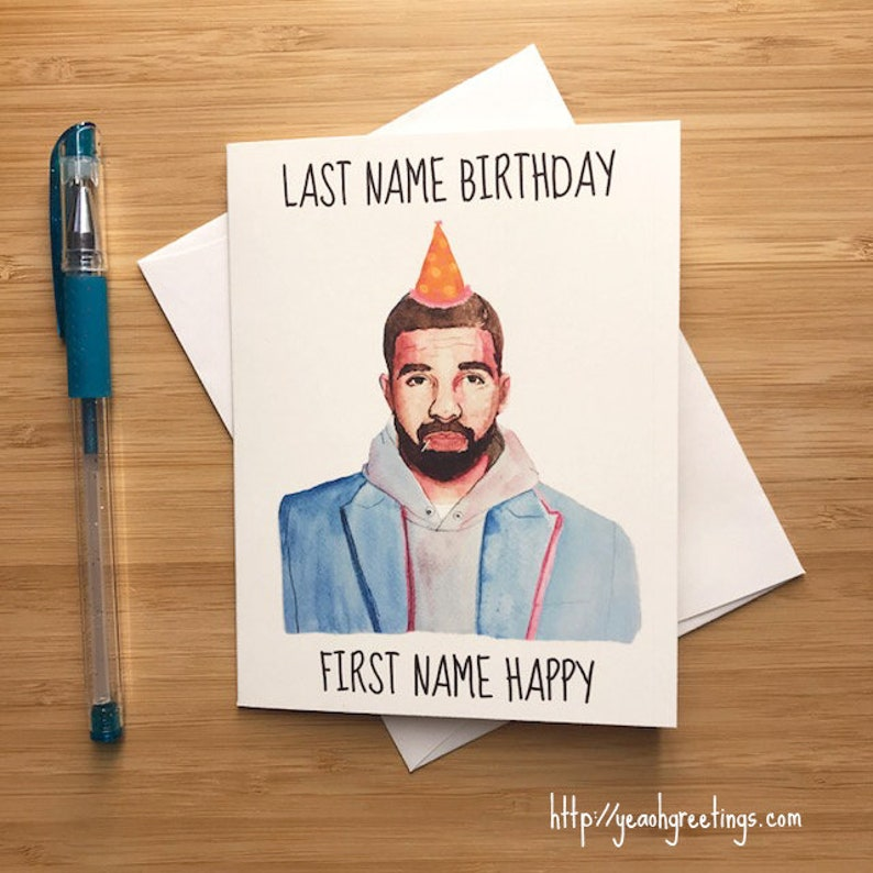 Last Name Birthday First Happy Card Funny
