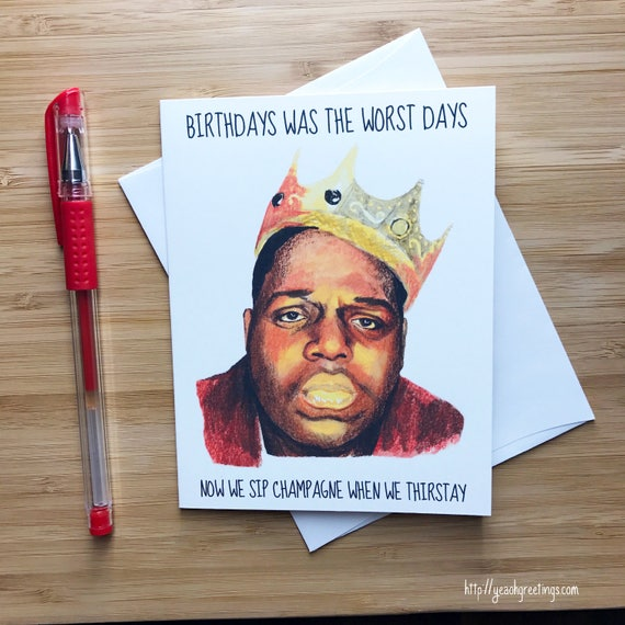 Rapper Birthday Card Hip Hop Music Rap Birthday Card Happy