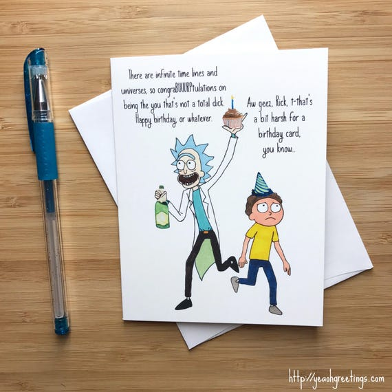 Funny Mad Scientist Birthday Card Cute Birthday Card Happy Etsy