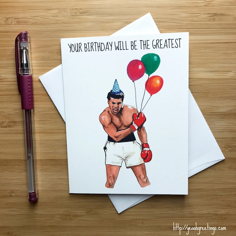 Cute Boxing Birthday Card Gift MMA Sports Fan