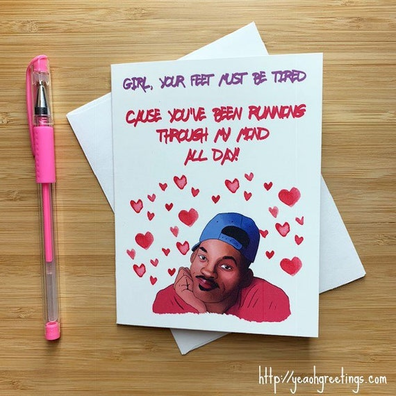 Cute Fresh Prince Love Card Funny Valentines Day Card Funny Etsy Mesmerizing Funny Quotes Valentines Day