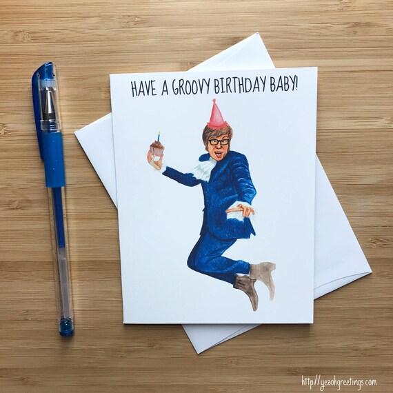 Funny Groovy Birthday Card UK