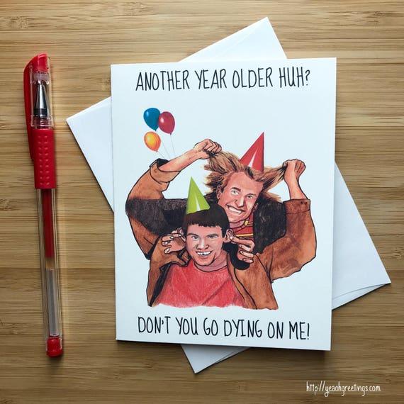 Harry And Lloyd Birthday Card Jim Carrey Funny Birthday Etsy