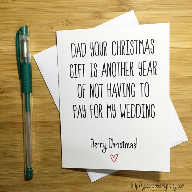 Christmas Card for Dad, Funny Christmas Card Father, Merry Christmas Card, Christmas Cards, Happy Holidays, Holidays Card for Dad, Xmas Card