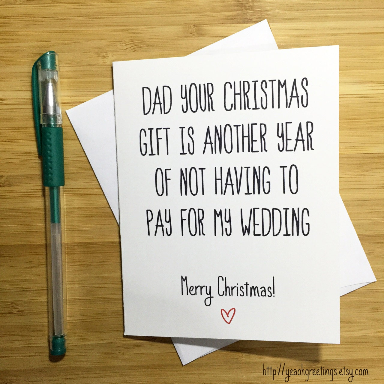 Christmas Card for Dad Funny Christmas Card Father Merry | Etsy