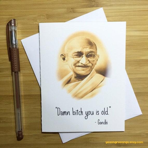Funny Gandhi Birthday Card Birthday Card Graduation Cards Etsy