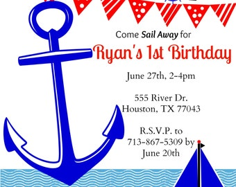 Sail Away Party Invitation