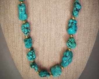 Analise Turquoise Look Necklace