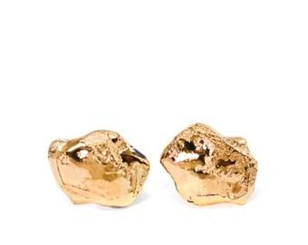 Gold Earrings, mens earrings, earrings for men, ceramic jewellery, porcelain earrings, man earring, most beautiful, casual wear, handmade