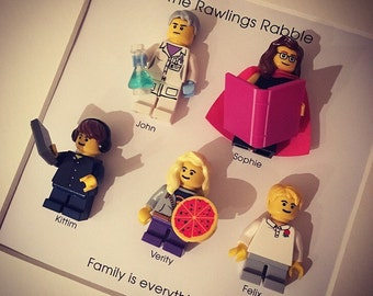 a79236a2481 Lego mini figures customised FAMILY of 5 personalised gift frame