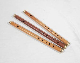 Traditionelle 6-Loch-Bambus-Flöte Klarinette Musikinstrument Holz Farbe C*de
