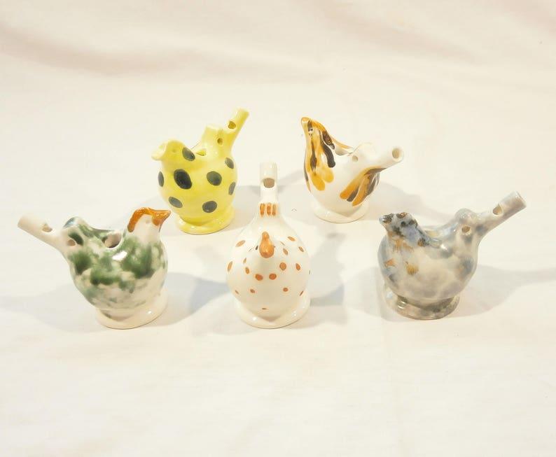Bird Water Whistle, Water Warbler - ceramics, handmade whistle
