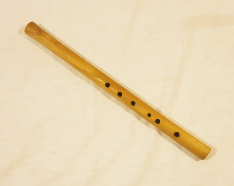 Simple Wooden Tin Whistle Folk Flute In C Western Hungarian Folk Flute