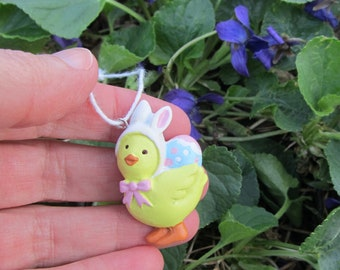 Easter Ornament Chick in Bunny Hat Decoration