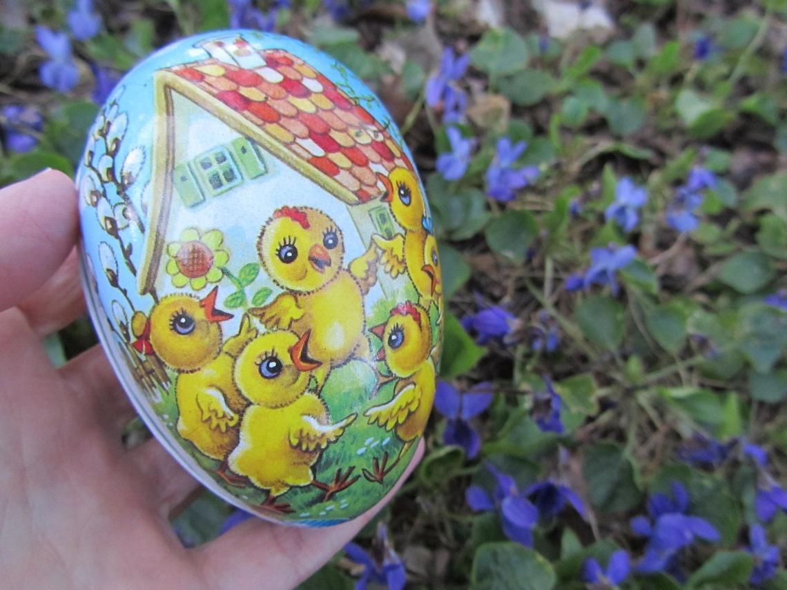 Vintage Easter Egg Paper Mache Germany