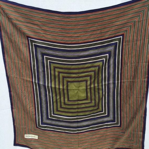 1970's /1980's Yves Saint Laurent Silk Scarf - image 3