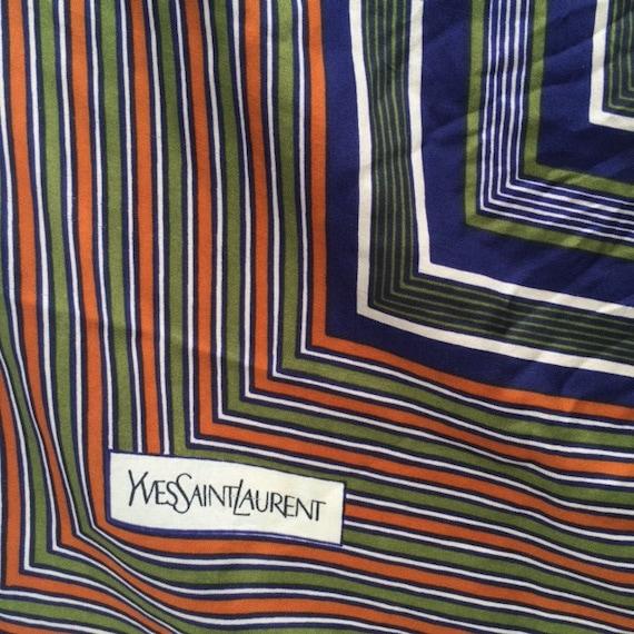 1970's /1980's Yves Saint Laurent Silk Scarf