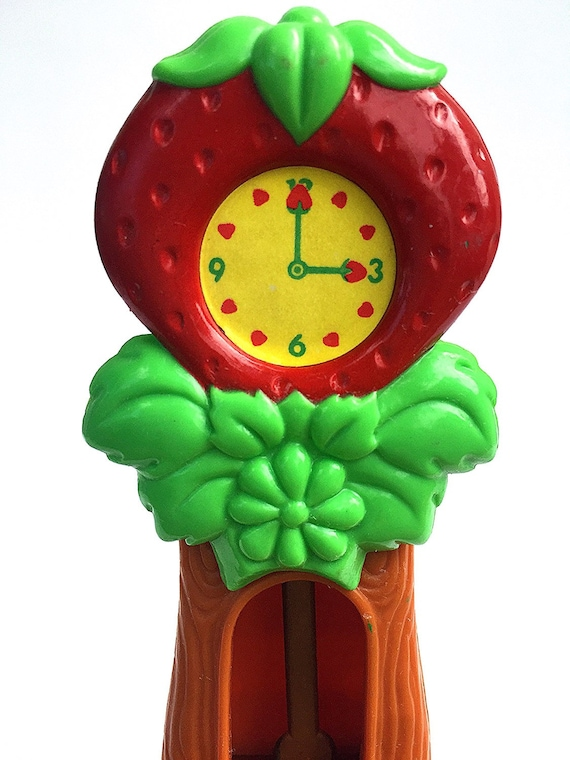 Berry Happy Home Grandfather Clock | Strawberry Shortcake Berry Happy Home Dollhouse Furniture | Living Room | Vintage 1980s SSC |