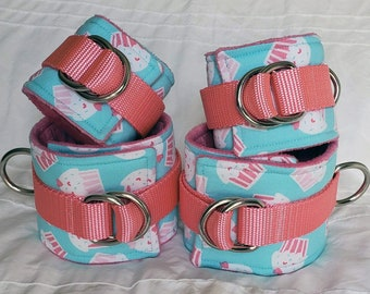 Cupcake wrist and ankle cuffs
