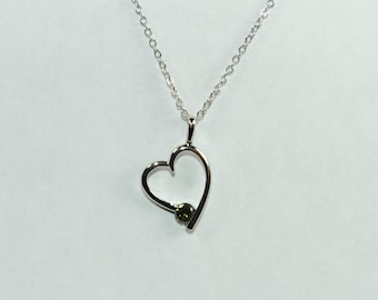 Heart Necklace Made with Swiss Crystals FREE SHIPPING!