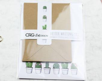 Cactus Letter Writing Set | Snailmail Penpals Stationery