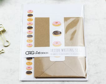 Donut Letter Writing Set | Snailmail Penpals Stationery