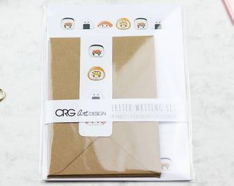Kawaii Sushi Letter Writing Set | Snailmail Penpals Stationery