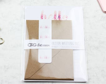 Floral Hello Letter Writing Set | Snailmail Penpals Stationery