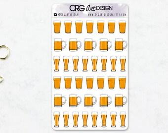 Beer Stickers | Planner Erin Condren Filofax Sticker Travelers Notebook
