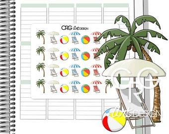 Summer Stickers   Planner Erin Condren Plum Planner Filofax Sticker