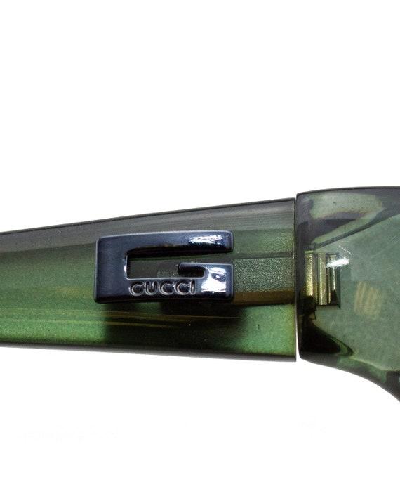 1990s Gucci Green Sunglasses - image 3