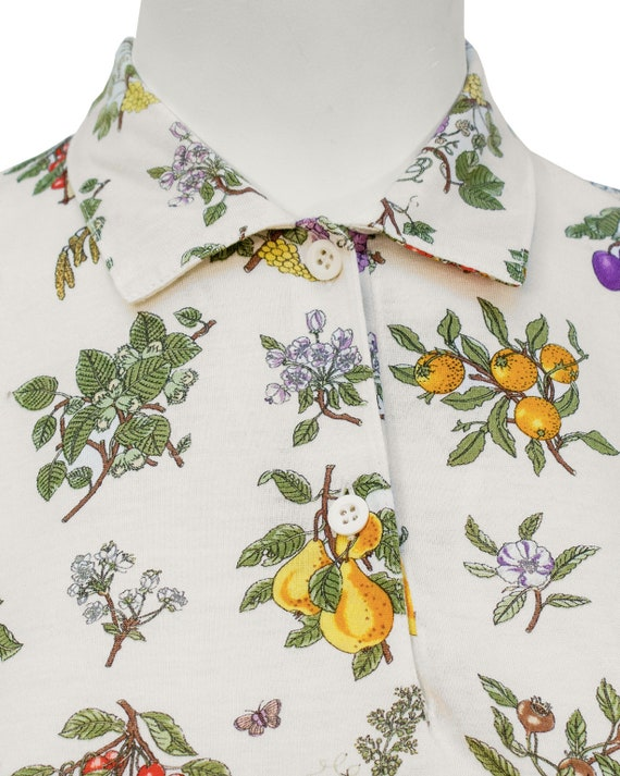 1970's Gucci Floral Polo Top - image 5