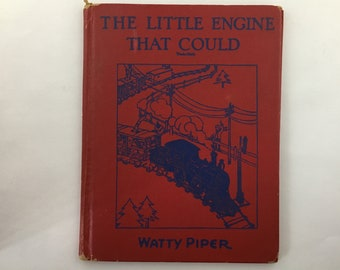 The Little Engine That Could, Watty Piper, The Pony Engine, 1930 the little engine that could, red children's book, vintage train book
