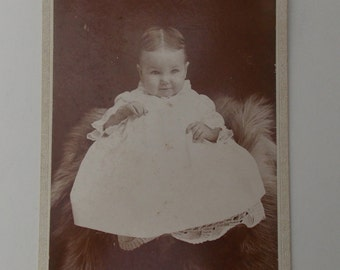 Victorian baby portrait, baby girl portrait, 1900s baby photo, antique baby photo, child portrait, Edwardian baby portrait, girl portrait