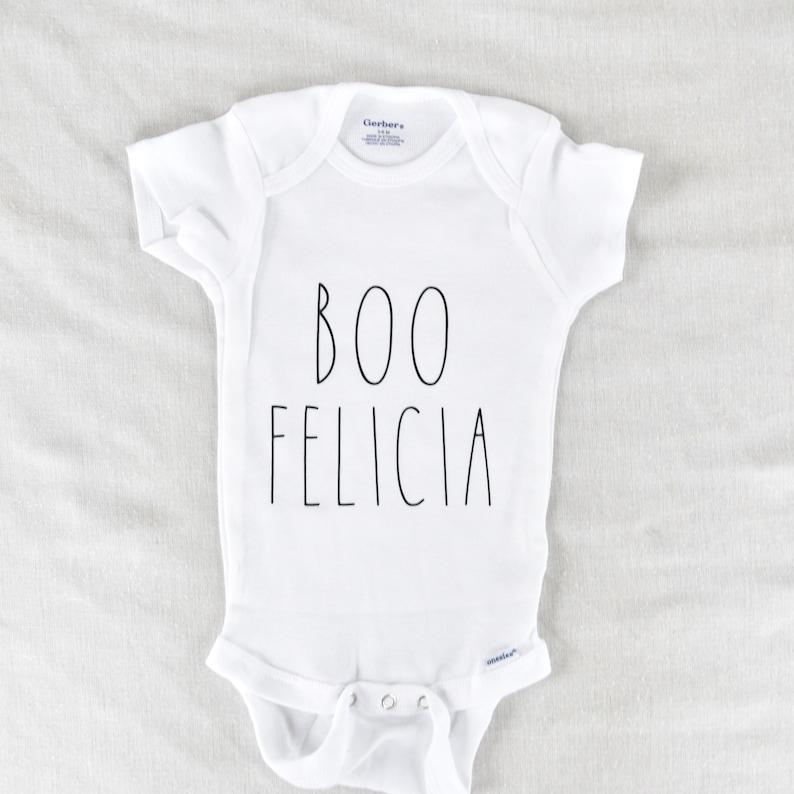 Halloween Onesie Rae Dunn Inspired Onesie Fall Onesie Baby Halloween Costume Halloween Costume Boo Felicia Onesie Rae Dunn Inspired