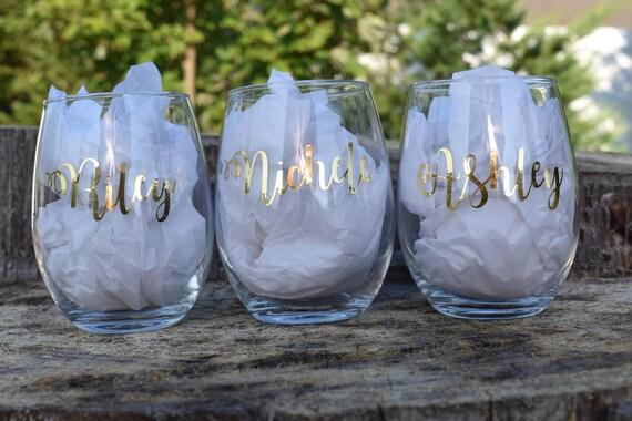 Personalized Wine Glass Personalized Gifts Bachelorette Etsy