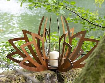 Multifunctional 'Lotus' Planter or lantern - Corten steel