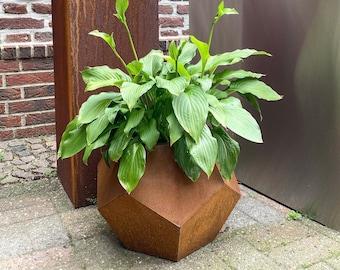 Corten Metall Planter, In- & Outdoor / Small