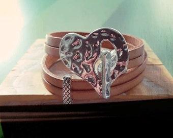nature leather bracelet
