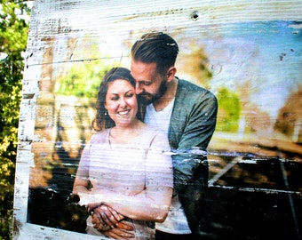 Photo Transfer | 5th Anniversary Gift for Her | Wood Anniversary | 5 Year Anniversary | Wood Photo Transfer | Wedding Anniversary Gift |