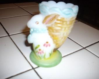 Fenton Rabbit Egg Cup