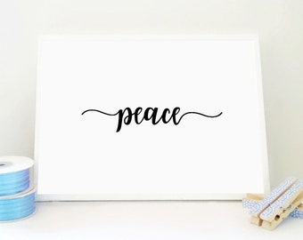 Peace Printable Print, Peace Poster