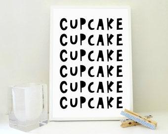 Cupcake Printable No2, Cupcake Poster