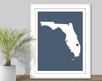 State Map Art. State Wall Art. PRINTABLE. Heart over City. Personalized State Art Map. Country Map. Housewarming gift. State Map Wall Art.