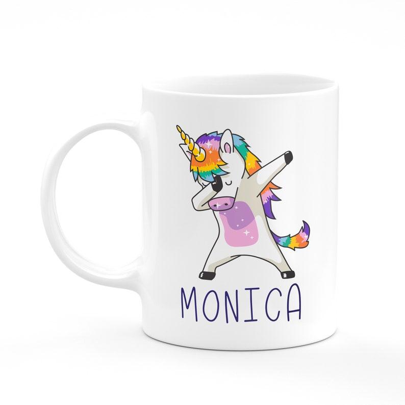 Personalised Dabbing Unicorn Mug