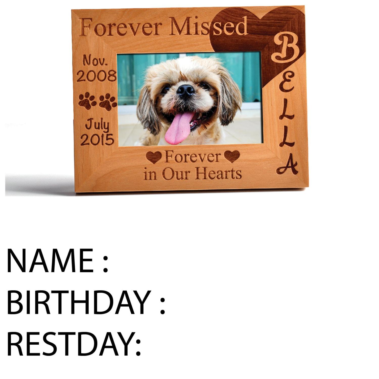 Marco de fotos madera de Adler Memorial para mascotas personalizados ...