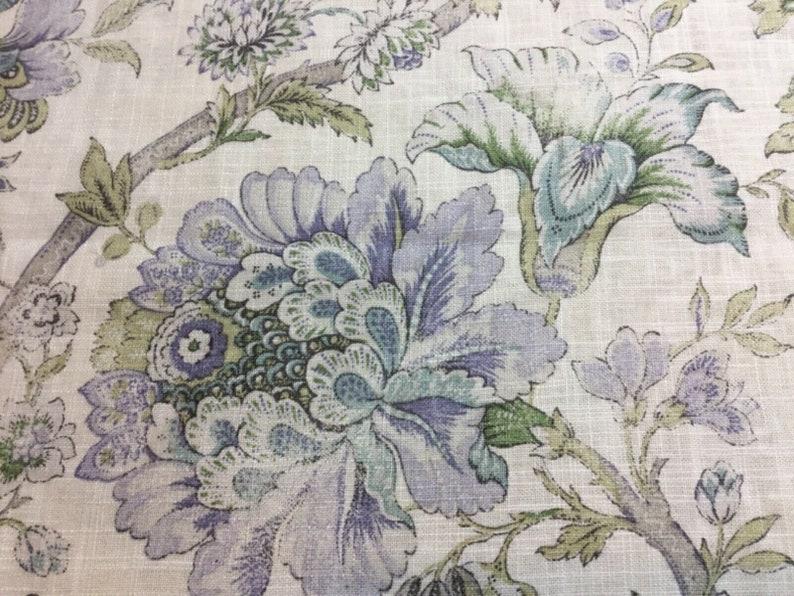 1.5 Yards x 54 P Kaufmann Jacobean Floral Home Decor Fabric