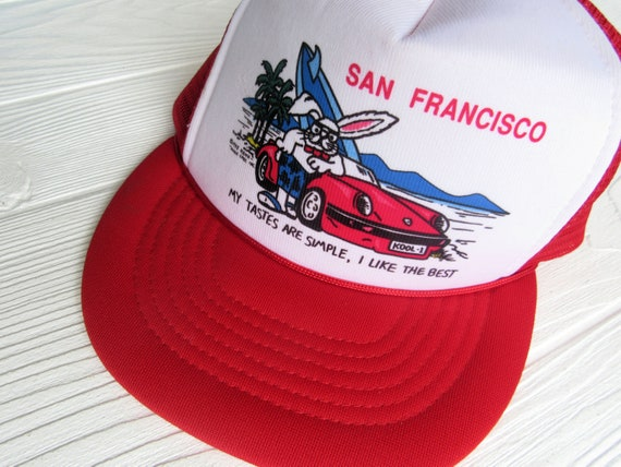 Vintage 80s San Francisco Snapback Hat~Novelty Sou