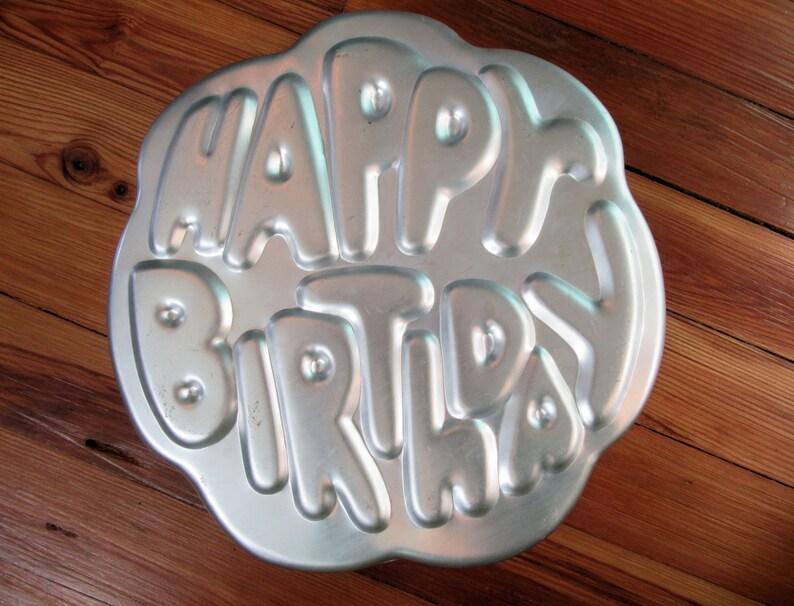 Vintage Wilton HAPPY BIRTHDAY Cake Pan FormRetro 1980