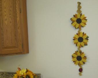 PDF Pattern: Sunflower Wall Hanging, Instant Download, Summer/Fall Decoration. Wool, Wool Felt, Applique.